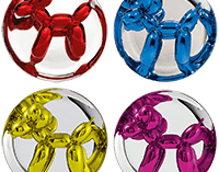 Jeff Koons Balloon Dog Set of 3