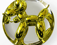 Jeff Koons Yellow Balloon Dog