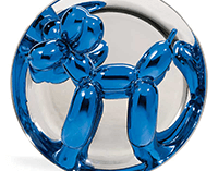 Jeff Koons Blue Balloon Dog