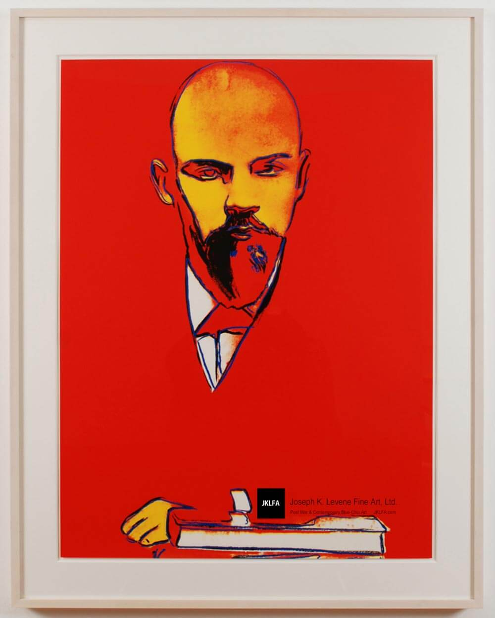 Andy Warhol Red Lenin (F&S II.403), 1987 Color Screenprint on Arches 88 paper  39 3/8 x 29 1/2 inches