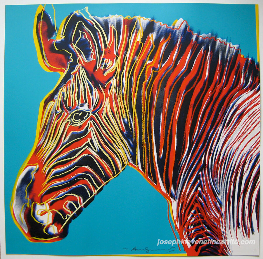 Andy Warhol Grevy's Zebra (from the Endangered Species Portfolio) (F&S II. 300), 1983