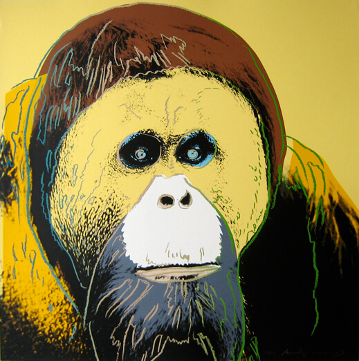 Andy Warhol Orangutan Screenprint Pristine JKLFA