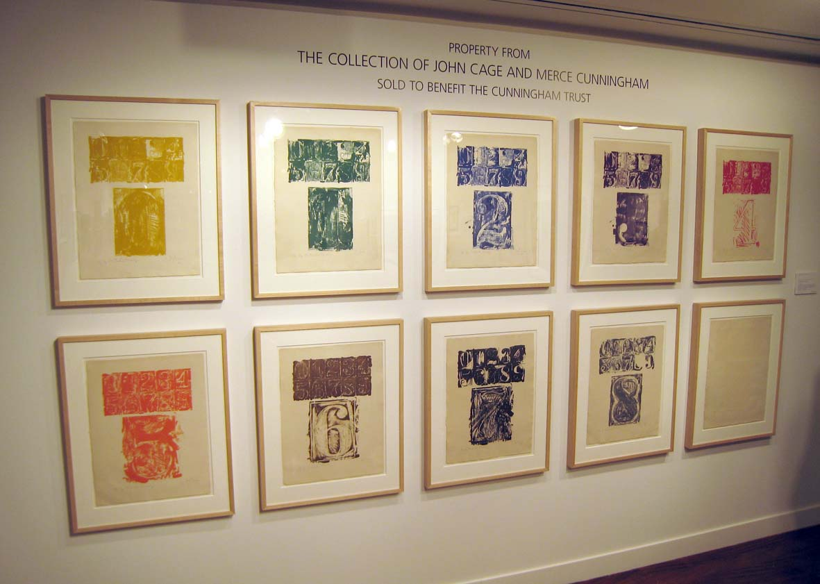 Jasper Johns  0-9 Set sold at Christie's with Missing Figure 9